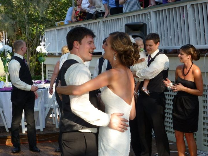 Taylor and Jason dancing for the first time as man and wife