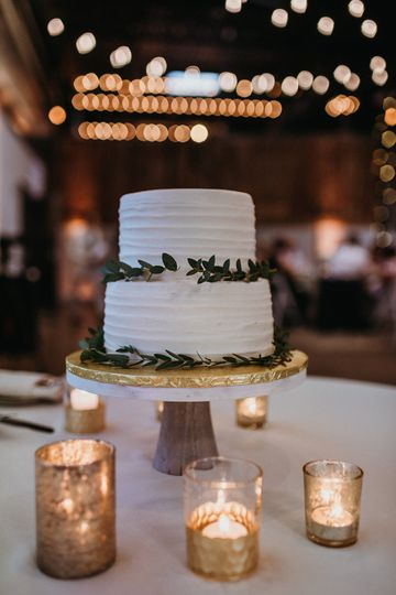 Rustic cake with greenery