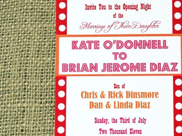 Tmx 1313166343577 Theaterinvitecloseup Greenville wedding invitation