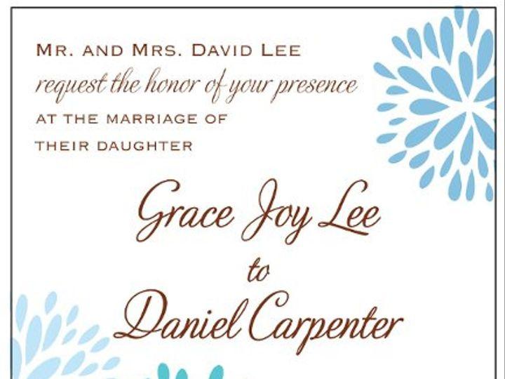 Tmx 1315520487591 BlossomInviteblue Greenville wedding invitation
