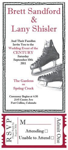 Tmx 1319642596233 Hockeyinvite1 Greenville wedding invitation
