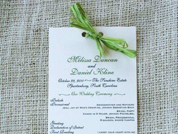 Tmx 1326985204265 Programgreen Greenville wedding invitation