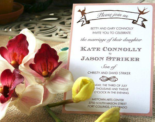 Tmx 1331923569394 Birdandbannerpink2 Greenville wedding invitation