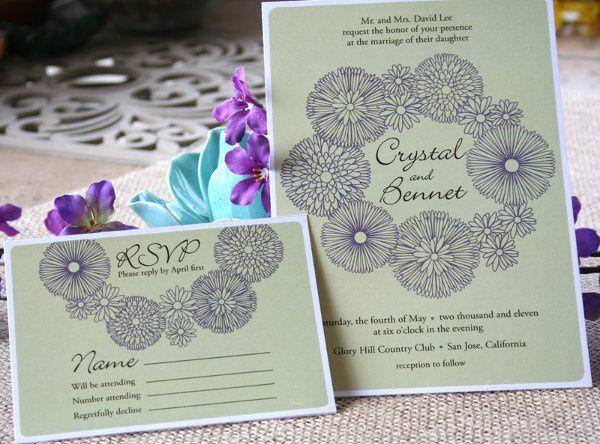 Tmx 1331923628481 Floralwreathgreen Greenville wedding invitation
