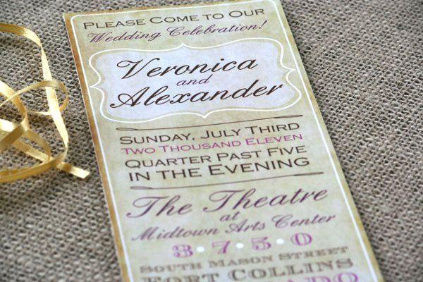 Tmx 1331923691299 Vintagelong2 Greenville wedding invitation