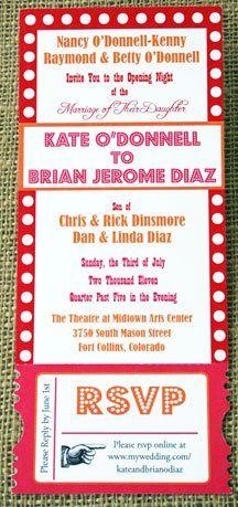 Tmx 1331923731527 Theaterinvite Greenville wedding invitation