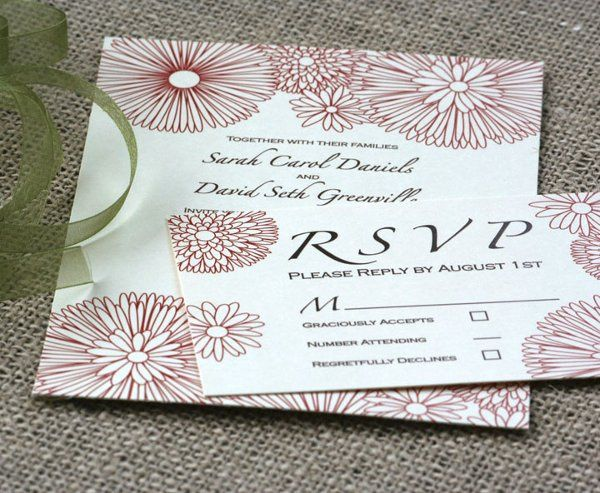 Tmx 1331923779075 Linefloralred Greenville wedding invitation