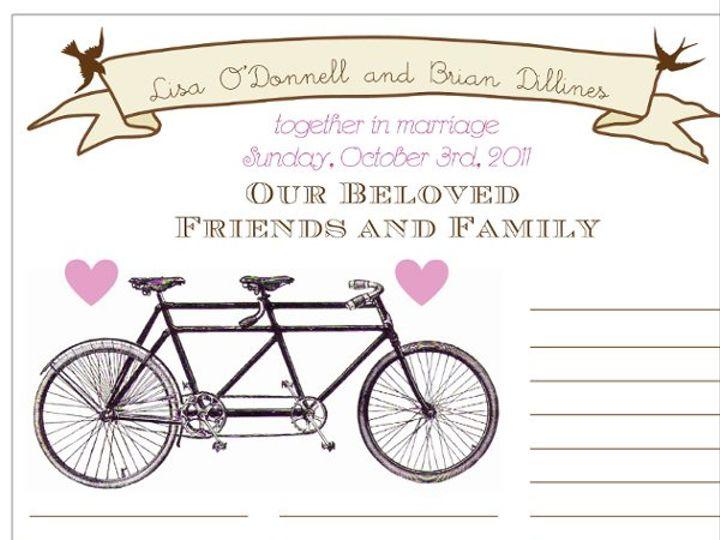 Tmx 1331924816100 Bicycleposterpurpledetail Greenville wedding invitation