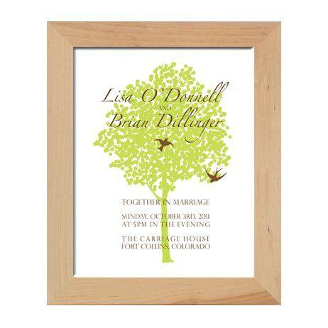Tmx 1331925100861 TreeWeddingprintinframe Greenville wedding invitation