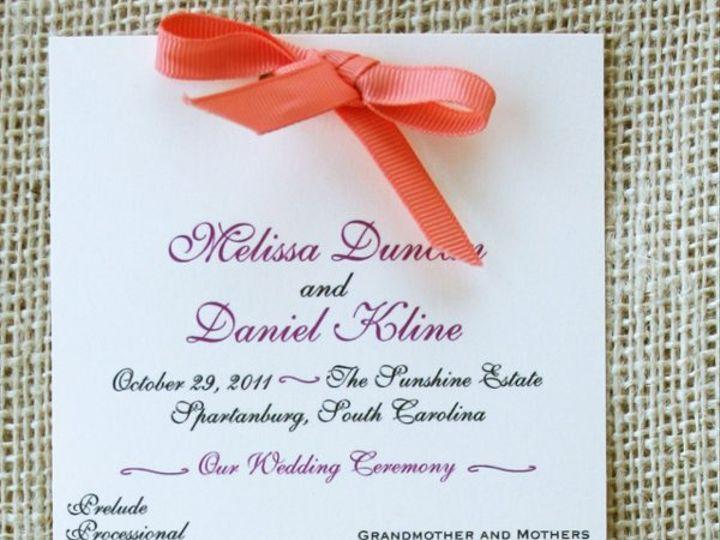 Tmx 1331925162461 Programpinkdetail Greenville wedding invitation