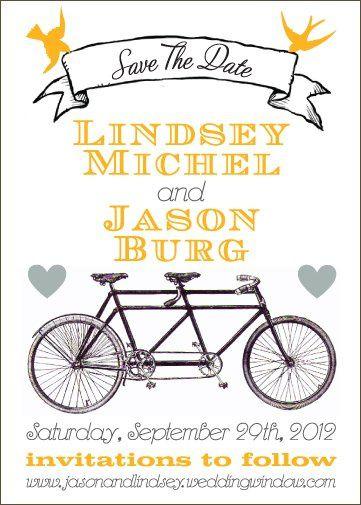 Tmx 1331926720110 Bicycleyellow Greenville wedding invitation
