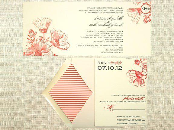 Tmx 1349113749881 Vintagefloralletterpress3 Greenville wedding invitation