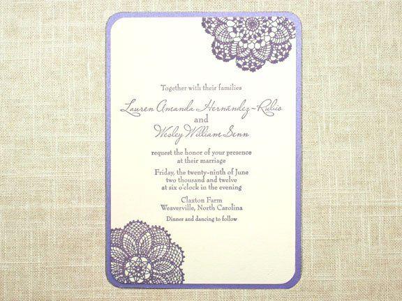 Tmx 1349113779854 Letterpresslace1 Greenville wedding invitation