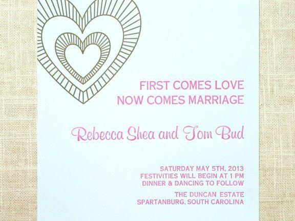 Tmx 1349113793374 Heartletterpressblue2 Greenville wedding invitation