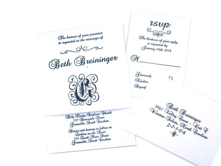 Tmx 1389387388857 Img435 Greenville wedding invitation