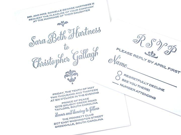 Tmx 1389387419489 Img434 Greenville wedding invitation