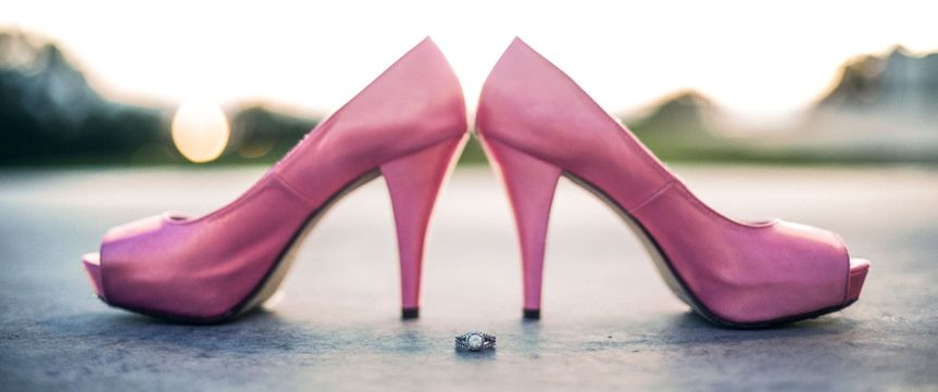 The ring and bridal shoes