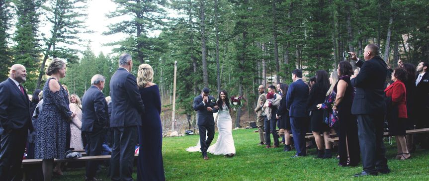 A Montana ceremony in the woods