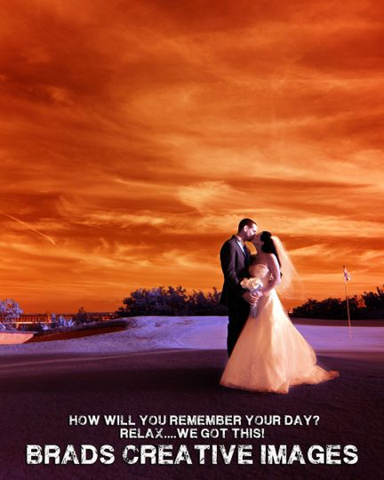 A stunning infrared capture of this couples romantic wedding portraits.