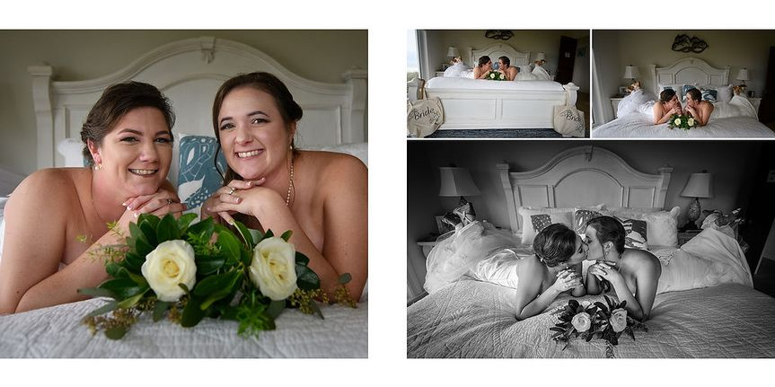 Two Brides are better than one!  Here our ladies have fun getting ready for their LGBT wedding on...