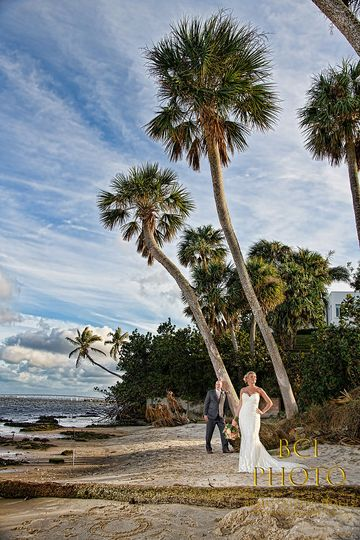 High fashion, meets wedding portrait for this beach wedding in Florida