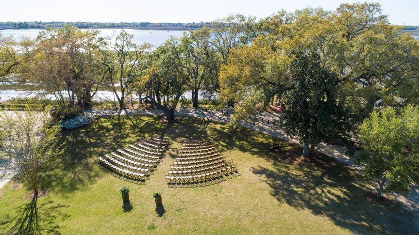 Lowndes Grove aerial views