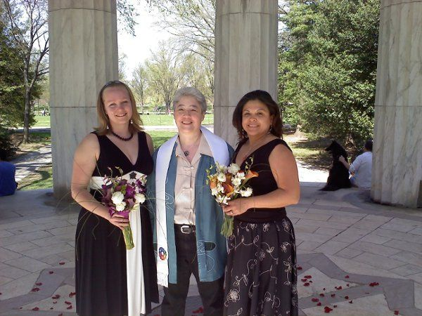 Rev. Bonnie with the newlyweds