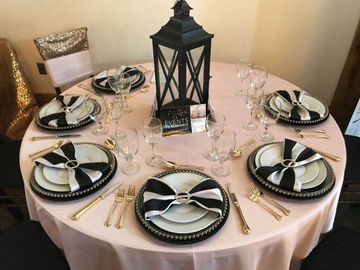 Classic-style centerpieces on display