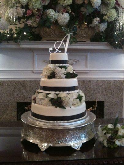 Black bands on cake