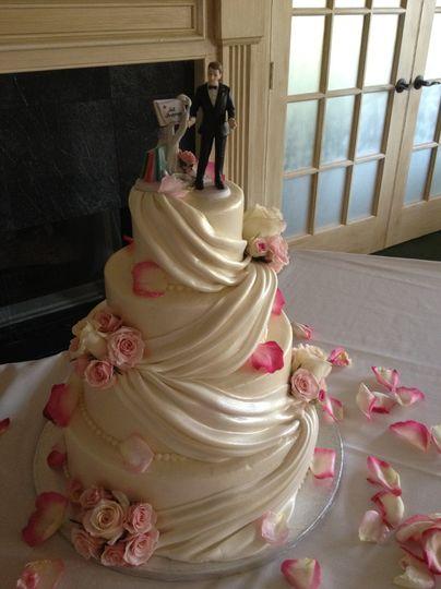 Cloth textured cake