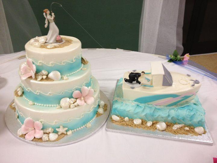 Blue sea cake