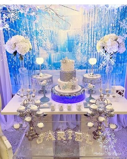winter wonderland sweets table 5