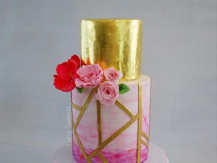 Tmx 1515023572850 Gold Leaf Cake Lynn, Massachusetts wedding cake