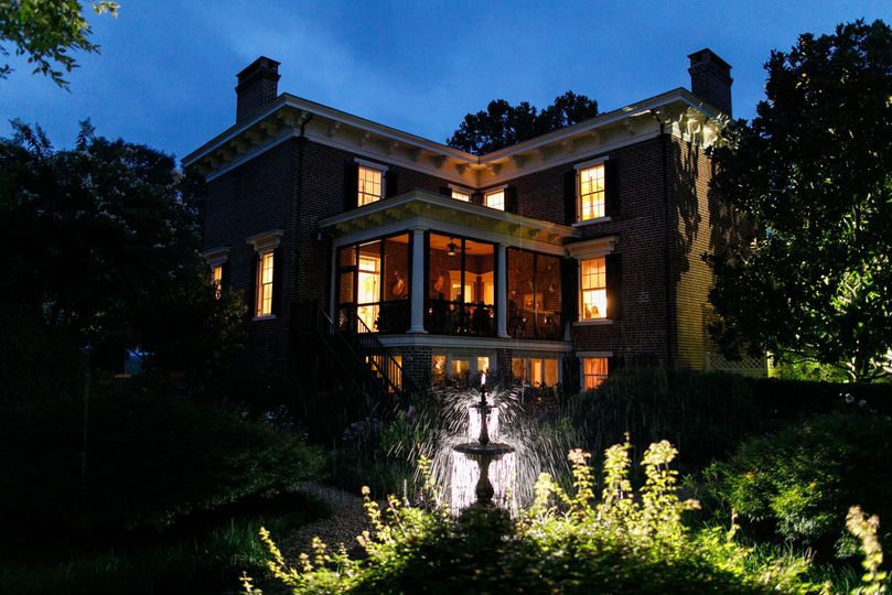 The Manor House at night