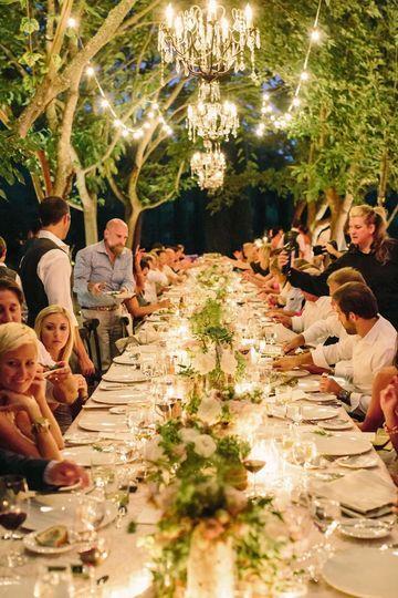 Dinner in the Formal Gardens