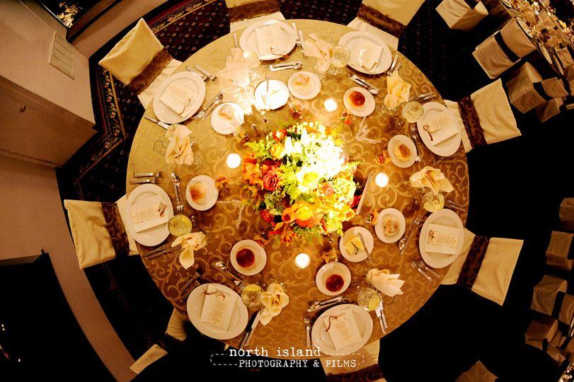 property birds eye table setting