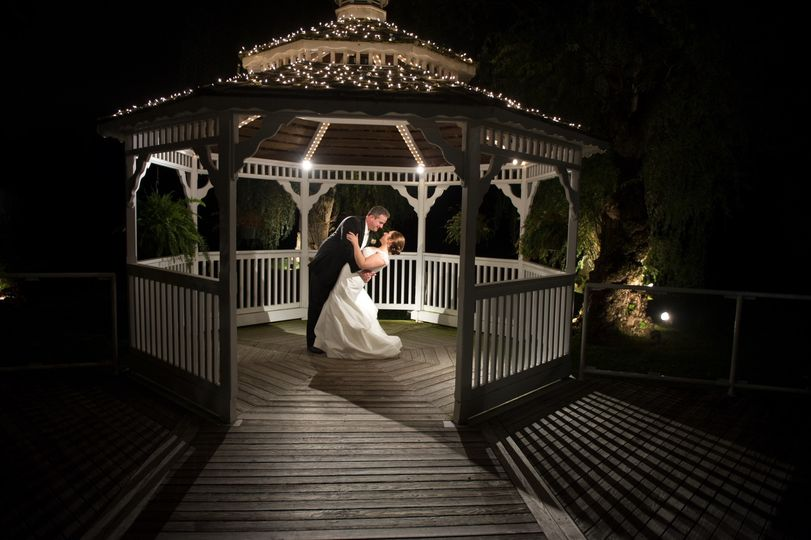 night time gazebo