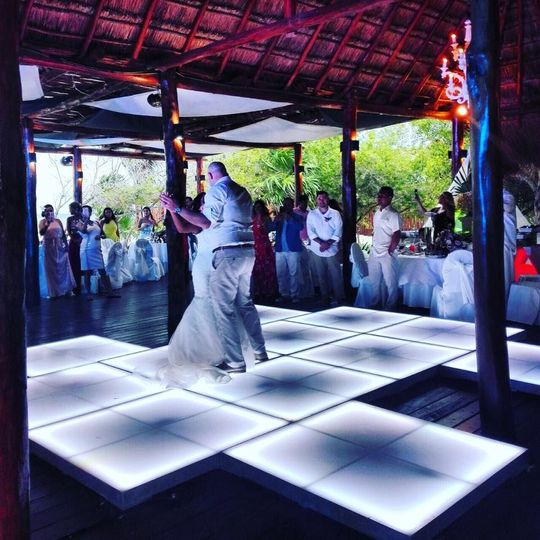 First dance and led dance floor with different shape