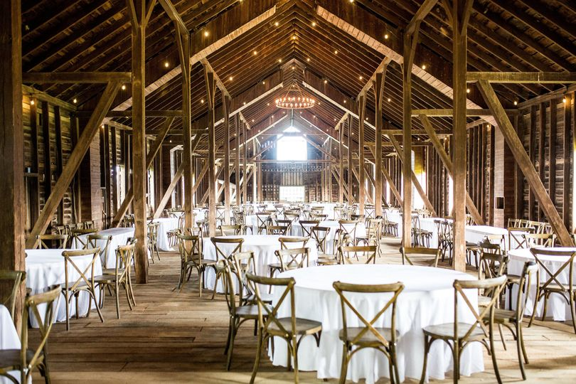 Our new cross back chairs and tables are included with the venue.