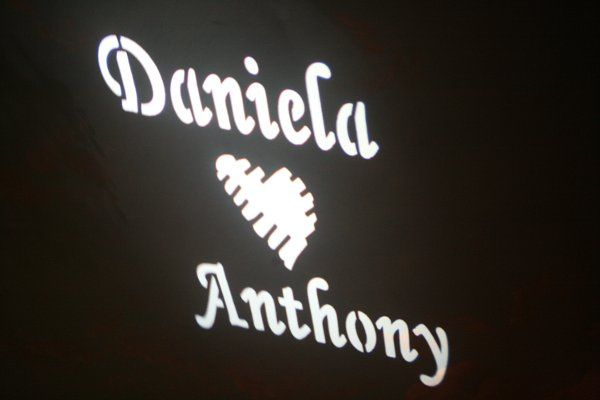 Custom Gobo (Name in Lights)