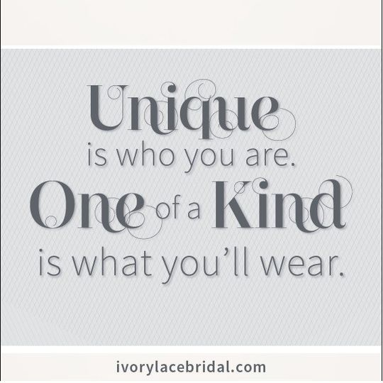 unique is who you are