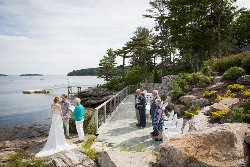 An elopement in Boothbay, ME