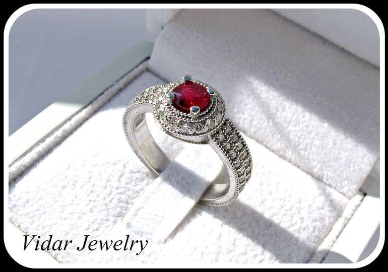 ruby platinum diamonds engagement ring copy