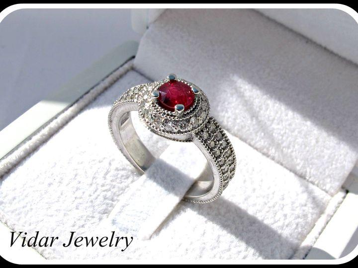 Tmx 1428943640452 Ruby Platinum Diamonds Engagement Ring   Copy Beverly Hills, CA wedding jewelry