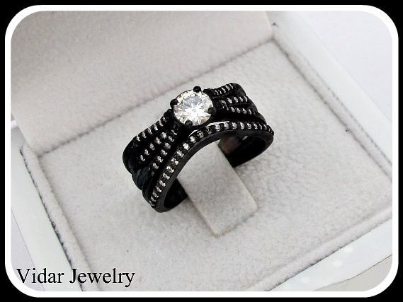 Tmx 1428944045023 Blackgolddiamondstripleweddingring Beverly Hills, CA wedding jewelry