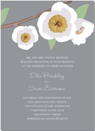 Suzanne Cahill has captured the essence of floral in a more non-traditional feel with her design...