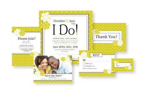 I Do! by Annah Syta. Share your excitement in this energetically retro invitation collection....