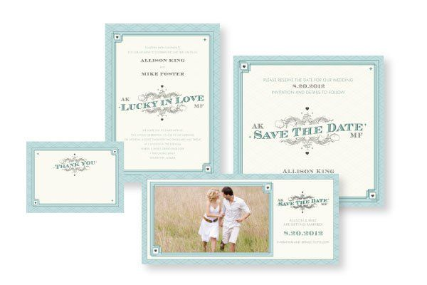 Lucky in Love - by Charla Weaver Create a playful atmosphere for your special day with this denim...