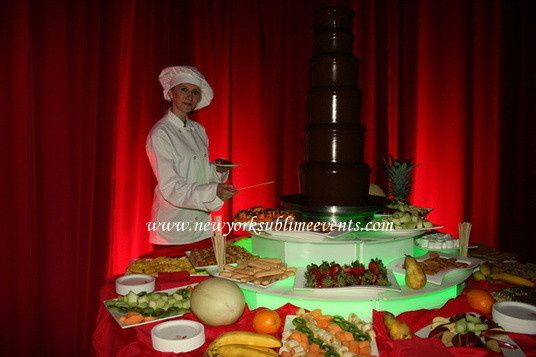 Chocolate Fountain Rental a delicious treat for your guests. Call: 718-744-8995 #chocolatefountain
