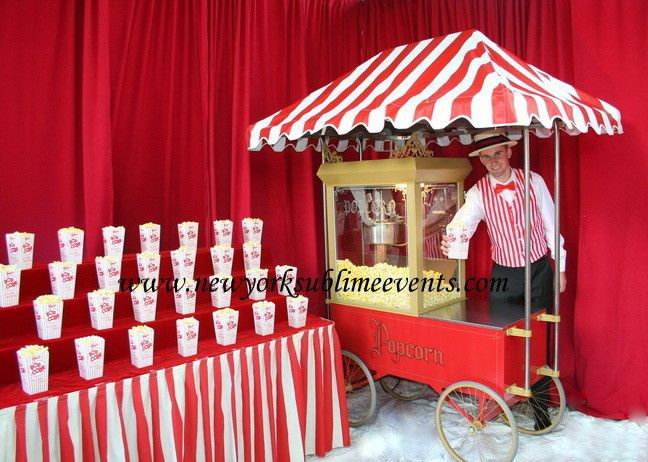 Popcorn Bar with a unique display, a huge hit at any event. Call: 718-744-8995 #popcorn
